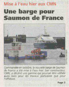 Une nouvelle barge pour le Saumon de France