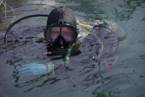 La plongée - équipe de la société Saumon de France