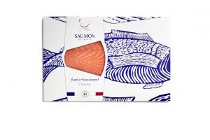 Saumon de France fumé 6 tranches presentation