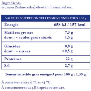 Valeurs Nutritionnelles Saumon de France