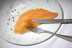 Assiette saumon france fumé