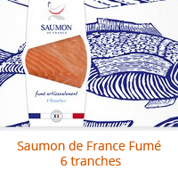 Le saumon de france fumé 6 tranches