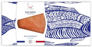 Saumon France Fumé artisanalament- 10Tranches.