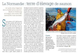 La normandie terre d'élevage de saumon - Produits de la mer n°174 juillet-Août 2017
