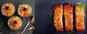 entree plat saumon fêtes