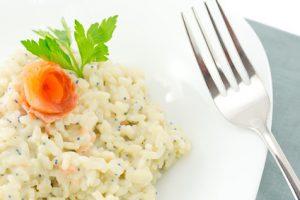 risotto saumon fume