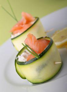 roulés courgettes saumon