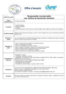 Offre d'emploi responsable commercial(e)